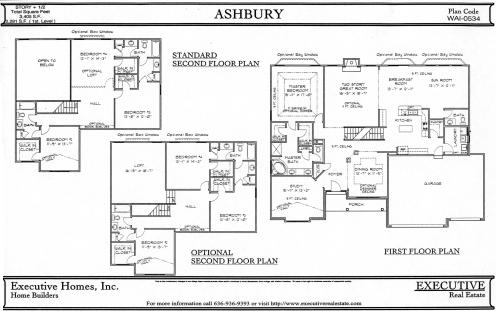 First U0026 Second Story Floor Plans W/Opt. 2nd Story Plans
