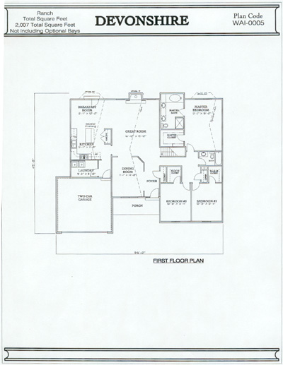 Devonshire Floor Plan Home Design