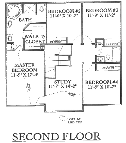 Two story floorplans for 2nd floor house design