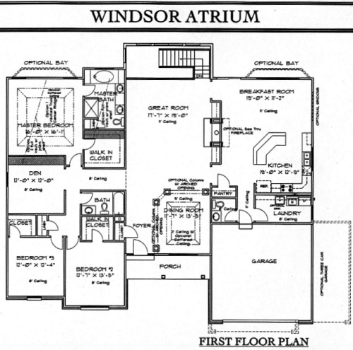 Ranch floorplans for Atrium ranch floor plans